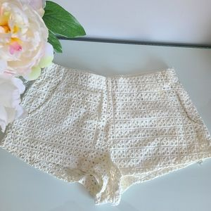 Zara Cotton Lace Shorts